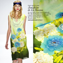 18*120cm 94% silk 6% spandex 19mm elastic mulberry silk satin green fabric clothes one-piece dress 7854