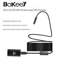 8ミリメートルbakeey 8 led無線lan内視鏡hdカメラ内視鏡防水リジッドケーブル用アンドロイドios用ラップトップpc
