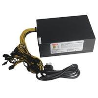 1600W Switching Switch Power Supply ETH Ant Miner Mining Power 12V Rectangular Titanium Single Way With