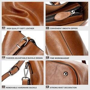 Image 5 - Shoulder Bags for Women 2020 Famous Brand Luxury Handbag Women Bags Designer Shoulder Crossbody Bag Soft Leather Handbag Vintage