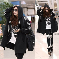 Freeshipping New Autumn Women Hoodies Sweatshirt Vestidos Plus size Casual Loose Zipper Thick Sweatshirt For Women Large Hoodies