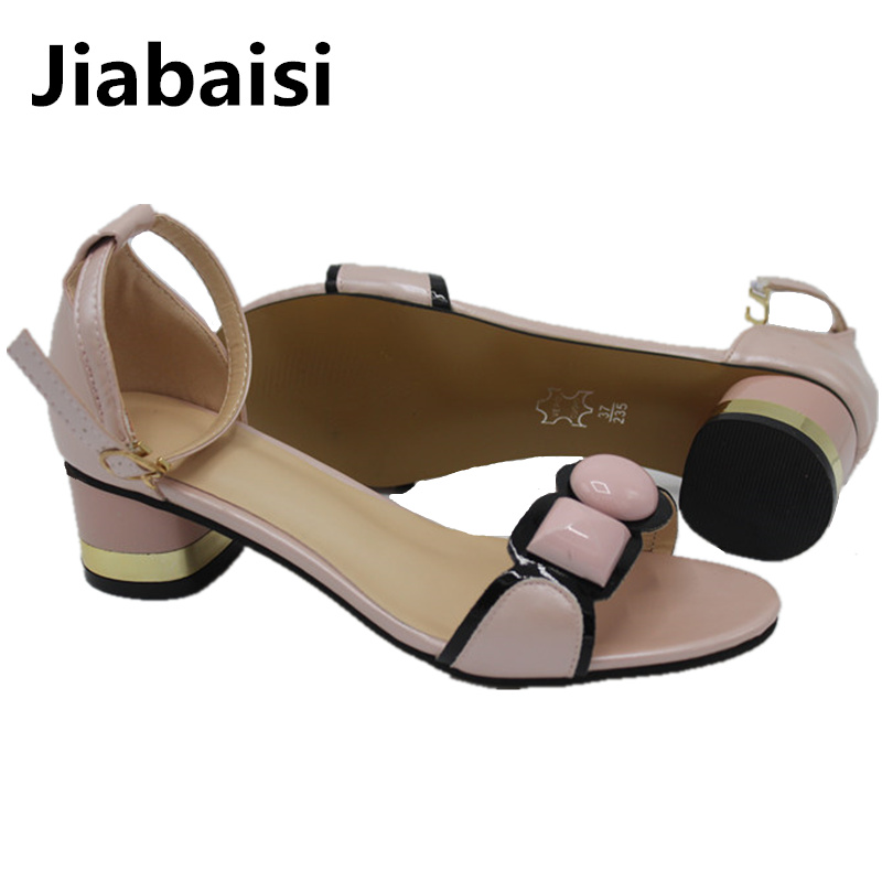 Jiabaisi shoes Women sandal new summer 2017 round Toe middle Heel new buckles fashion PU strap  shoes Party ladies Shoes woman spanish french russian voice 433 mhz new arrivel 433mhz remote control wireless gsm sms call home security gsm alarm system