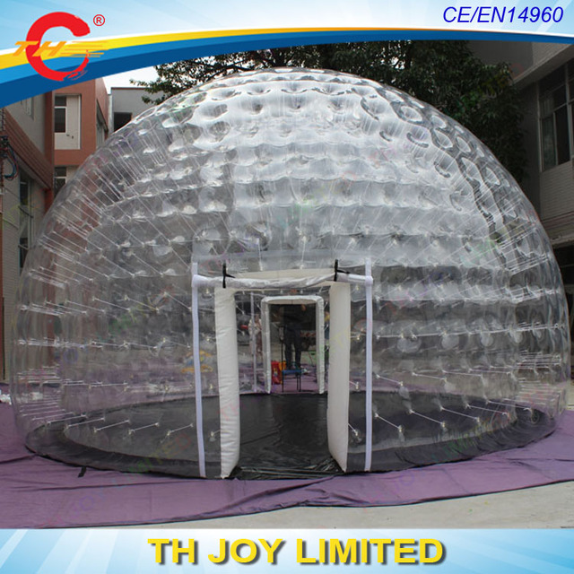 Free shipping!outdoor igloo inflatable transparent clear