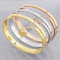 Design Luxury Brand Love Bracelet Women Stainless Steel Roman Numerals Accessories Zircon Bangle & Bracelets For Women Jewelry