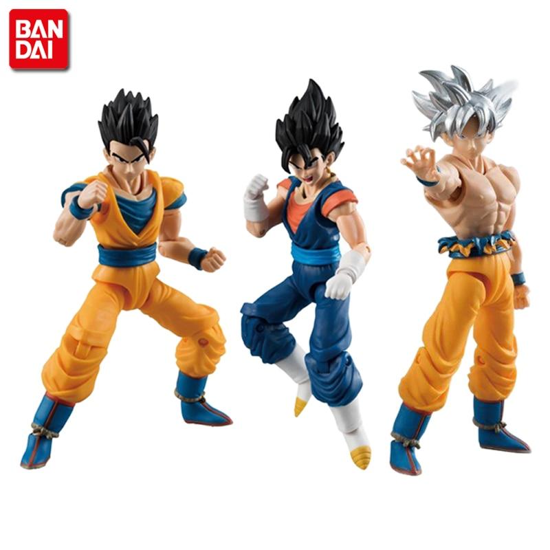 Genuine Bandai Tamashii Nations SHODO Vol.6 Dragon Ball SUPER Son Goku Ultra Instinct & Gohan & Vegetto (9cm tall) Action Figure