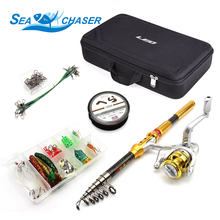 1.8M-3.0M carbon Telescopic Fishing Rod and Reels Spinning a variety of Hook Lures Onerous Fishing Bag Fishing Journey Deal with Set