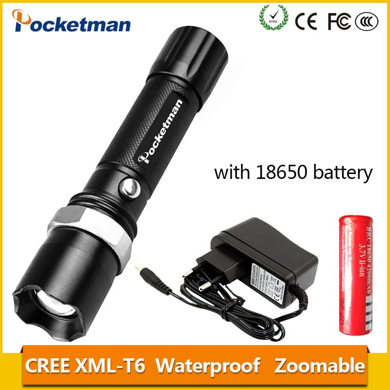 2018 E17 XM-L T6 3800LM Aluminum Waterproof Zoomable LED Flashlight Torch light for 18650 Rechargeable Battery or AAA z88 cob usb led flashlight 18650 zoom torch waterproof flashlights xm l t6 3800lm 3 mode led zoomable light for hunting camping