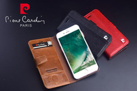 Brand New Pierre Cardin Genuine Leather For IPhone 8 8 Plus Phone Case Fashion Luxury Stand
