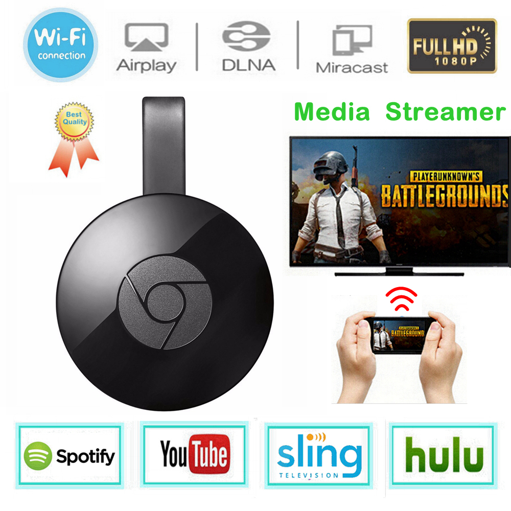 WiFi Display Dongle Media Streamer for Google Chromecast 2 Audio HDMI Crome Chrome Cast Cromecast 2 YouTube Miracast Mirascreen