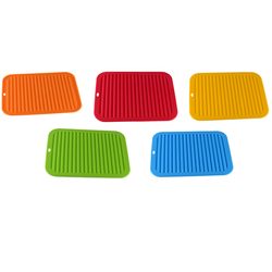 Onda de silicone padrão isolamento esteira cozinha armazenamento prato copo rack secagem titular dreno secador bandeja utensílios de mesa dreno água