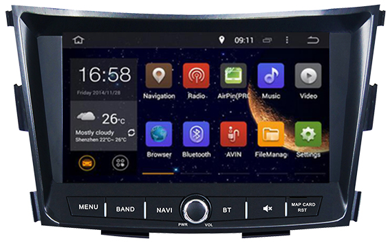 Octa/Quad Core Android 7.1/6.0 Fit SSANGYONG TIVOLI 2015 2016 - 2018 CAR DVD PLAYER Multimedia Navigation AUDIO STEREO VEDIO DVD