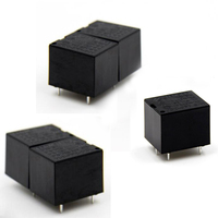 5 pcs T73 12 Relé Eletromagnético Pequeno Normalmente Aberto Preto v 4 Pinos 10A JQC-3FF-S-H