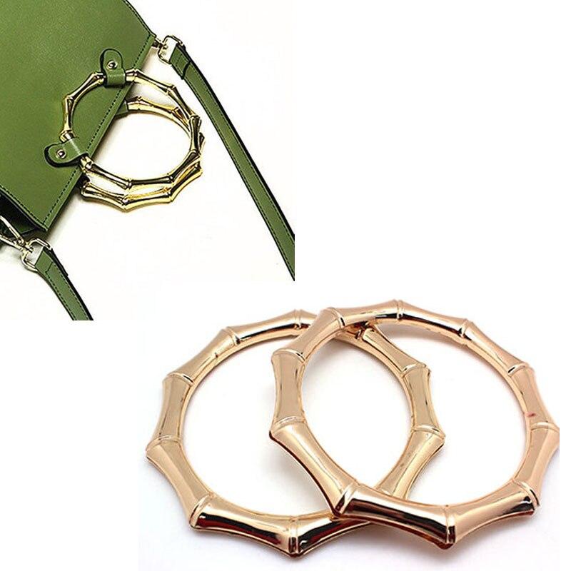 11cm Metal Bag Handle Bamboo Joints Imitation Ring DIY Purse Handbag Hardware