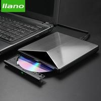 llano USB Optical Drive External USB 3.0 CD/DVD ROM Combo DVD RW ROM Burner for Dell Lenovo Laptop for Mac OS USB DVD Drive