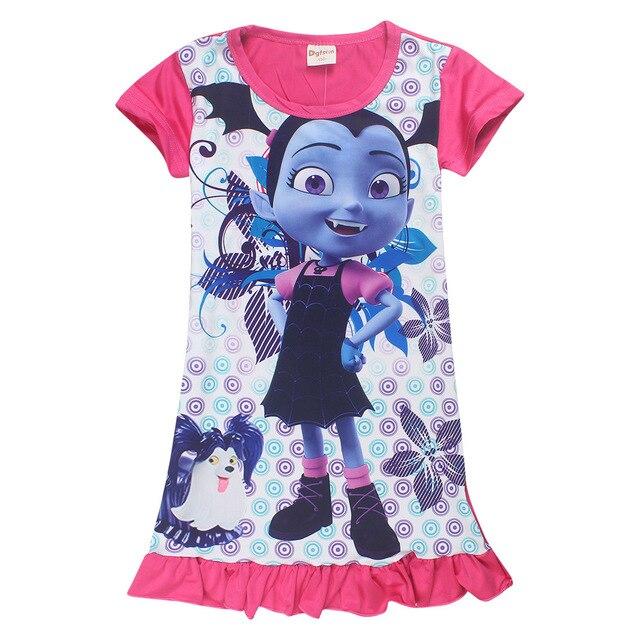 fa4eee86c 3-8 years Vaiana Junior Vampirina Girls Nightdress Summer Kids Clothes  Children Flower Clothing Cartoon Nightgowns