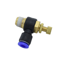 SL10-01 SL10-02 SL10-03 SL10-04 Quick Connector SL Series Speed Flow Control Pneumatic Fittings Adjustable Air Tube PU