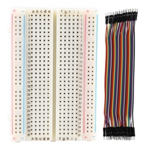 Breadboard Experiment Board Breadboard 400 Contacts & 40pcs 20cm 2.54mm Male To Male Breadboard Jumper Wire Cable For Arduino