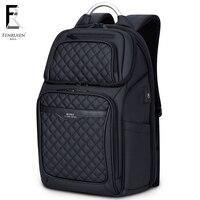 FRN Business USB Charging Bag Men 17 inch Laptop Backpack Waterproof High Capacity Mochila Antitheft Casual Travel Backpack Bag