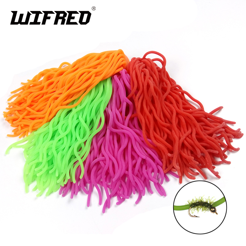 60 strands/PC Fshing Lures Soft Worm Body Squirmy Wormy Fly Tying Material San Juan Worm Earthworm Baits for Trout S no te va gustar san juan