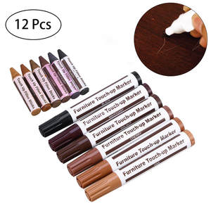Office Stationery Marker 12Pcs Wood Furniture Pen Wax