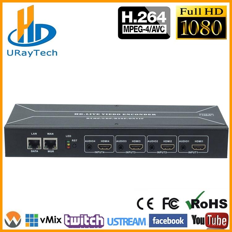 ที่มีประสิทธิภาพ 4 ช่อง H.264 HDMI Encoder HDMI To HTTP RTSP RTMP HLS UDP Converter H.264 IP Video Encoder-ใน อุปกรณ์ออกอากาศวิทยุและโทรทัศน์ จาก อุปกรณ์อิเล็กทรอนิกส์ บน AliExpress - 11.11_สิบเอ็ด สิบเอ็ดวันคนโสด 1