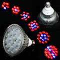 E27 54W 85-265V High Power 14Red:4Blue LED Grow Light for Flowering Plant and Hydroponics System Free Shipping