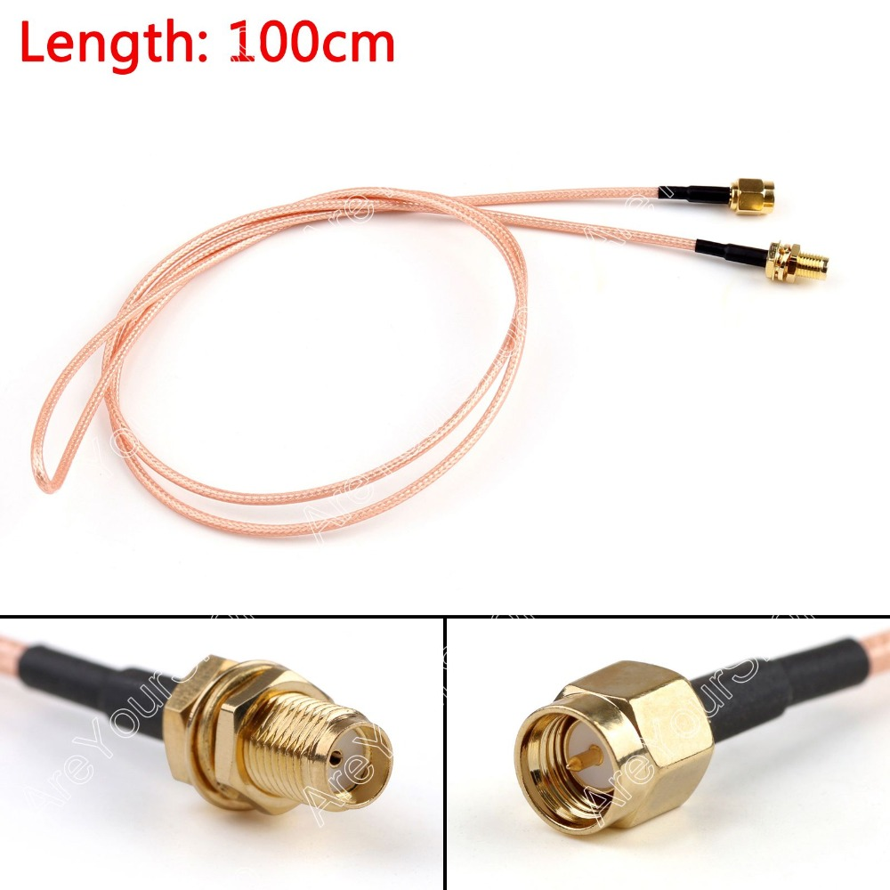 Areyourshop Sale 100cm RG316 Cable SMA Male Plug To SMA Female Jack Jumper Pigtail 3ft FPV  Mini Jac 2015 new arrival rg174 x 15cm 1pcs rp sma female to y type 2xts9 ts 9 plug splitter combiner cable jumper pigtail