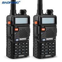 BAOFENG 2PCS UV 5R Walkie Talkie VHF UHF136 174Mhz 400 520Mhz Dual Band Two Way Radio