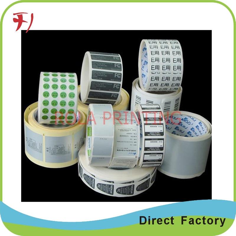 ⊱Impresión personalizada adhesivo Etiqueta de Papel kraft para ...