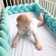 100CM Baby Bed Bumpers Cotton Crib Protector Cartoon Cot In For Newborns Multicolor Bumper