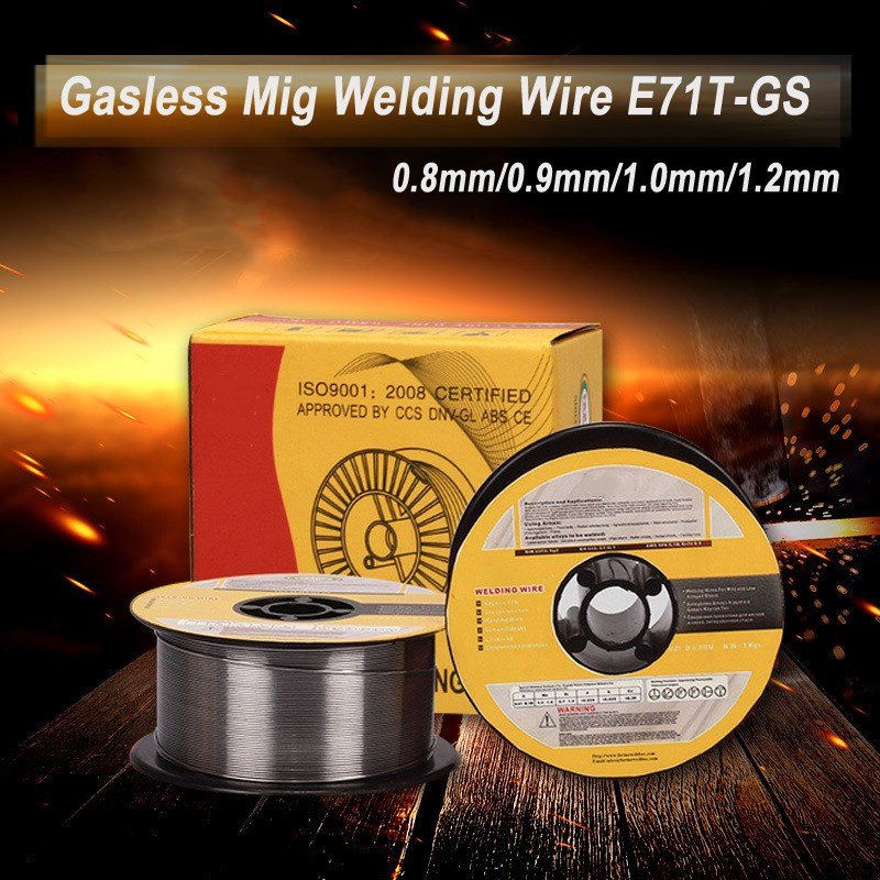 Gasless Mig Welding Wire 1kg 0.8/0.9/1.0/1.2MM Flux Core For Welder Wire Steel Flux Cored Welding Wire Without Gas