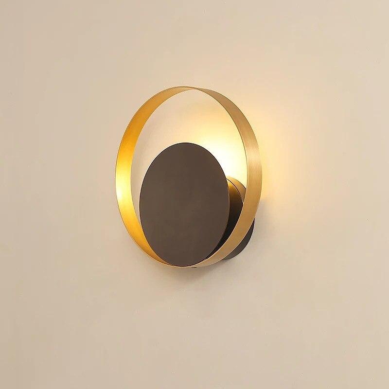 Lampe de mur LED nordique en cuivre lampe de chevet de chambre à coucher de fond de salon de luxe applique murale d'allée créative livraison gratuite