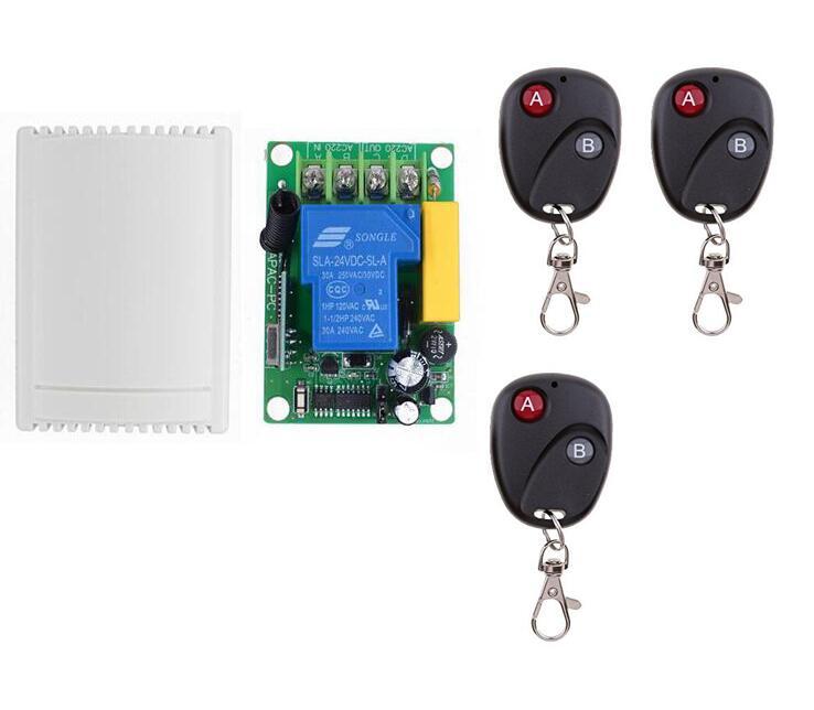Rf Remote Control Receiver AC 220V 30A Wireless Remote Control Switch Control Garage/Roller/Sliding Gate Door /Motor