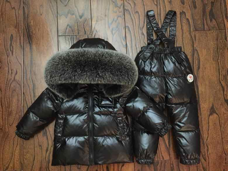 d85ae81f9 ... -30 Degree Russia Winter Children's Clothing Girl Clothes Sets for New  Year Baby Boys Parka ...