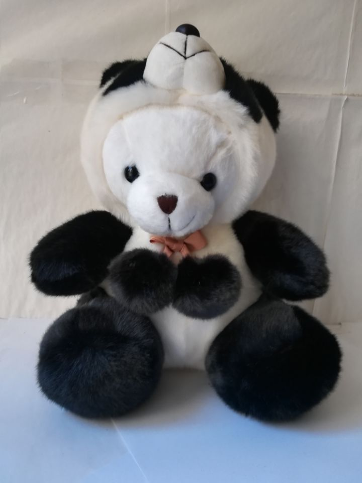 large 30cm polar bear changing to panda plush toy soft doll throw pillow high quality birthday