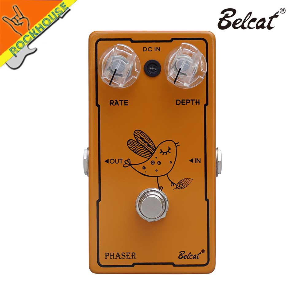 Belcat Phaser Guitar Effects Pedal Analog Circuit Nature and Smooth Tone True Bypass Free Shipping