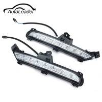AutoLeader 1 Pair LED For Kia Rio K2 2015 2016 2017 Daytime Running Lights 6000K DRL