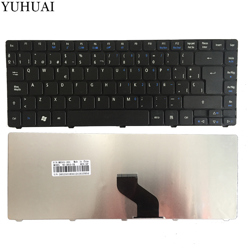Spain Keyboard for <font><b>Acer</b></font> Aspire 3410 3410T 3410G 3810 3810TG 3810T 3815 3820 3820G 3820T 4820 4820G <font><b>4820TG</b></font> SP Black keyboard image
