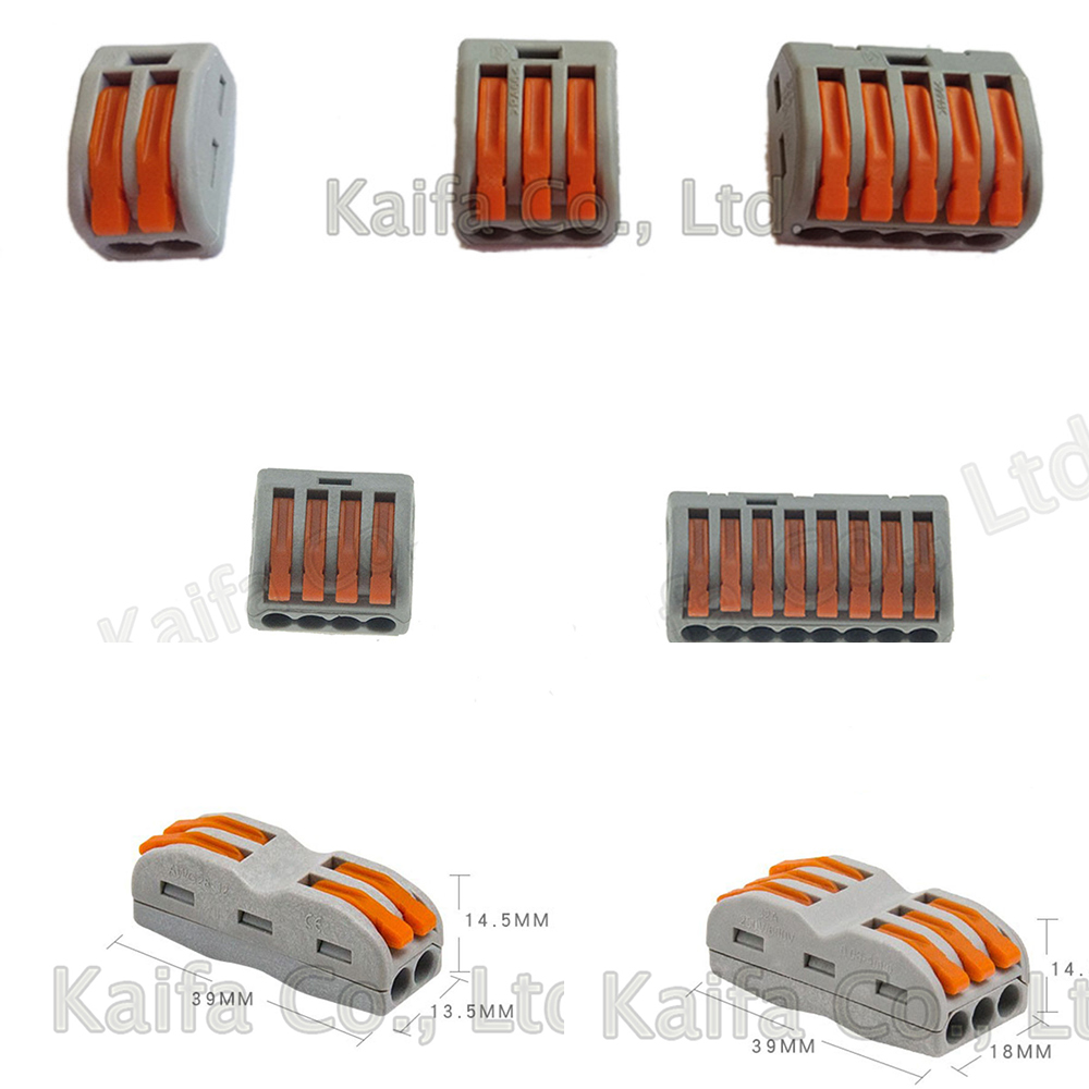 WagoType 10pcs 222-412/413 PCT212/213 5pcs 415 PCT-215 Universal Compact Wire Wiring Connector Terminal Block 214 218 SPL-3/2