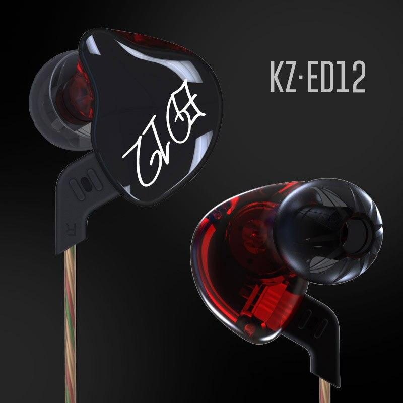 bilder für Original KZ ED12 3,5mm In Ohr Kopfhörer Schwere Bass HIFI DJ Stereo Geräuschisolation KZ Headset Austauschbare Kabel
