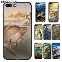 Truta MaiYaCa Painel Pintura dos peixes do esporte da Pesca Soft Case Telefone para Apple iphone 11 pro 8 7 66S Plus X 5S SE XS XR XS MAX(China)