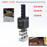 HOT SALE IN ALIEXPRESS Manual Handheld Hot Foil Stamping Machine For Leather Wood 220V 110V
