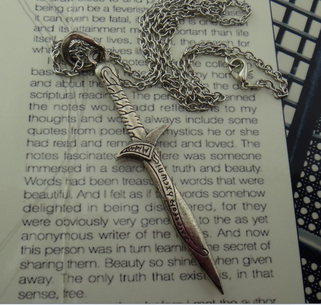 The Hobbit Sword Pendant Fine Art Necklace