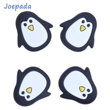Joepada 100Pcs/lot Penguin Animal Silicone Teething Beads Food Grade Baby Teether BPA Free Toy DIY Pacifier Chain Accessories