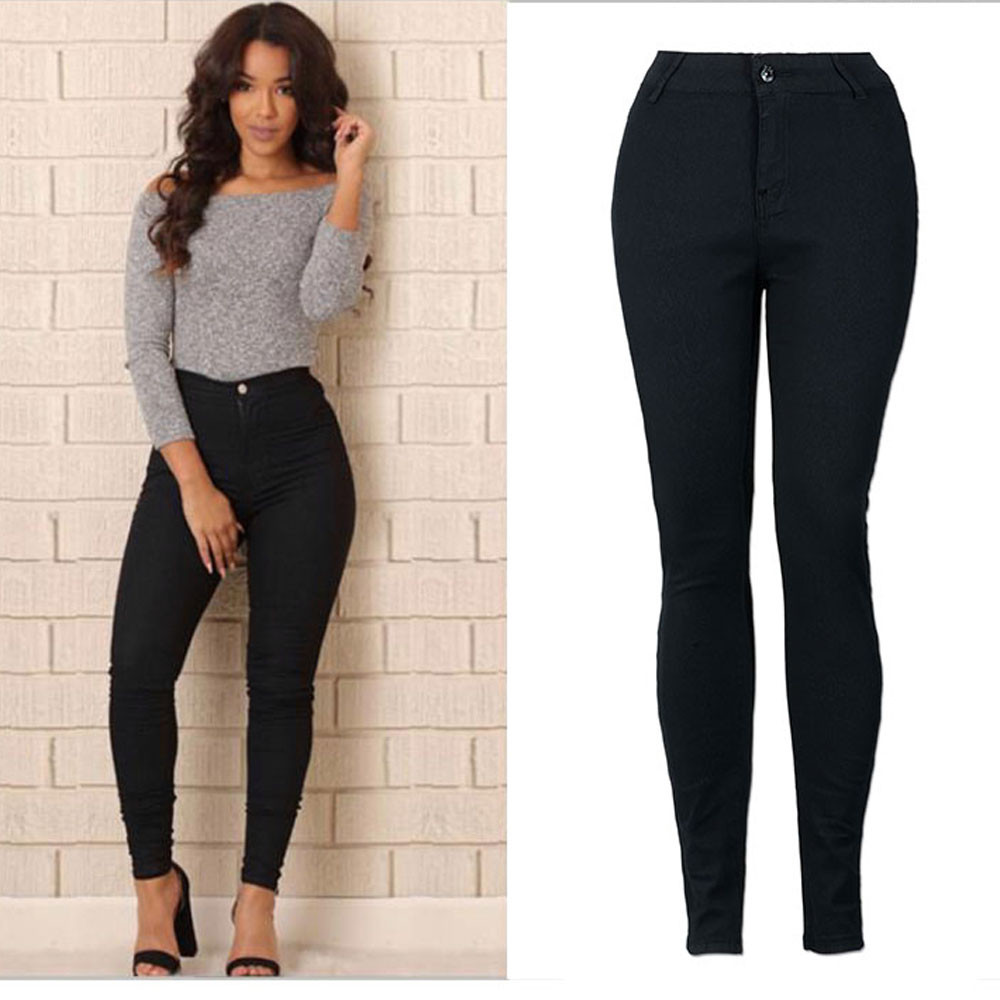 Women Pencil Stretch soft and comfortable Casual Denim Skinny Jeans Pants High Waist Trousers L50/0130
