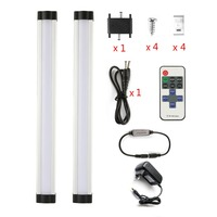 White Dimmable LED Under Cabinet Lighting Wireless RF Dimmer And Controller Included Milk Cover 12in