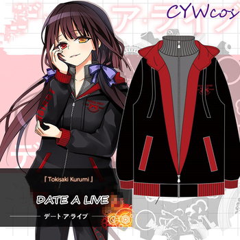 DATE A LIVE Anime Cosplay Nightmare Tokisaki Kurumi Cosplay Costume Sweater Coat Casual Pants Comic Hoodies Jacket + Pants 1