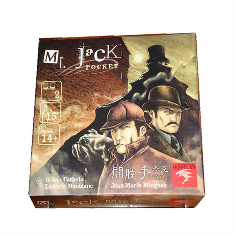 Small Box Mr Jack Pocket Version Board Game Cards Game Send English  Instructions