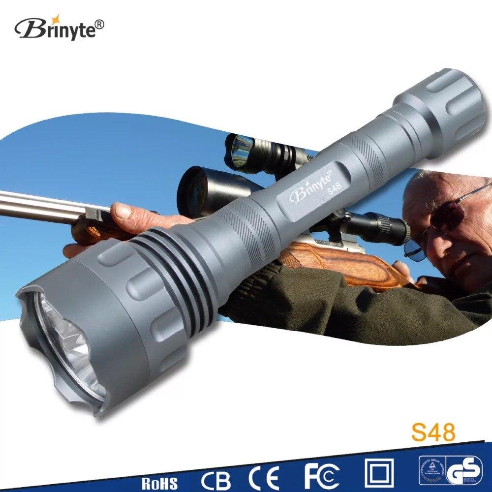 все цены на Brinyte S48 Powerful LED Tactical Flashlight 5* CREE XR-E Q5 LED Police Flashlight Military Security Hunting Outdoor Lighting