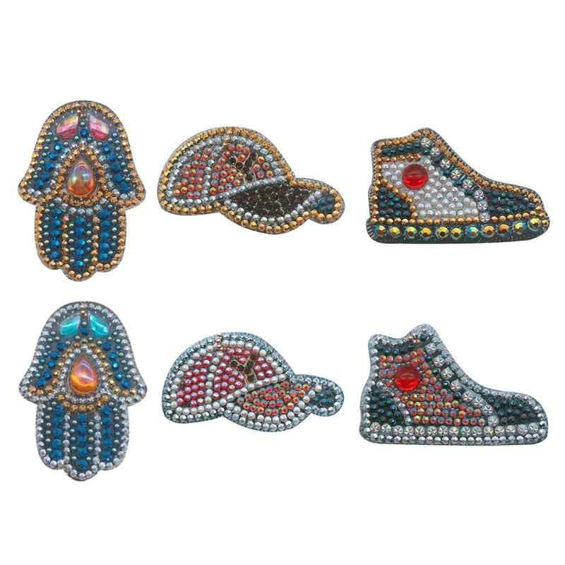 5 pz/set Esercitazione Completa 5D FAI DA TE Cappello di Pesce Keychain Dell'anello Chiave Del Diamante Pittura Del Ricamo Del Regalo Punto Croce Ricamo Artigianale